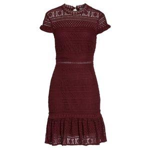NWT Foxiedox Ellie Fit & Flare Lace Mini Dress